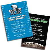 See all Super Bowl theme invitations and favors